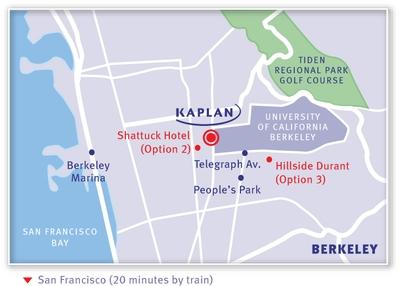 KAPLAN Berkeley Map